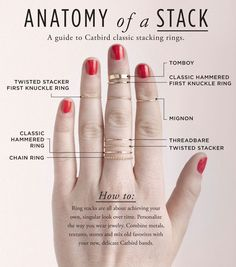 Catbird anatomy of a stack basics of stacking rings. Via Diamonds in the Library. Jewelry Rings, Jewelry Accessories, Fashion Accessories, Fine Jewelry, Diamond Jewelry, Jewelry Design, Zierlicher Ring, Bijou Box, Bijoux Fil Aluminium
