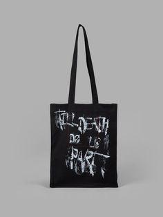 HAIDER ACKERMANN Haider Ackermann Black Tote Bag. #haiderackermann #bags #hand bags #tote #cotton