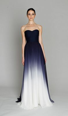 Divine dress - although I still have a problem with bold color for wedding gowns! Maybe as an evening gown, or even for the bridesmaids… although it'll be hard to find a wedding dress dramatic enough to stand up to such bridesmaid's gowns!!