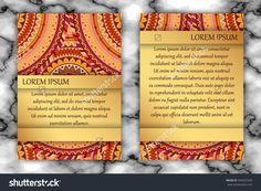 Invitation Card Design Template. Vintage Decorative Elements With Mandala, Delicate Floral Pattern. Islam, Arabic, Indian, Ottoman, Aztec Motifs. Стоковая векторная иллюстрация 494925589 : Shutterstock