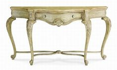 Terracina Collection sofa table in creamy finish