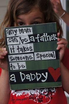 Fathers day idea :) i miss him