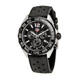 TAG Heuer Mens Formula 1 Swiss Quartz Stainless Steel and Rubber Dress Watch Color:Black (Model: CAZ1010.FT8024)