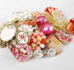 Get 20% Off all items! Use Coupon Code: SPRINGSAVINGS at check out  Fruit Punch Pink Orange Yellow Craft Jewelry