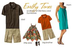 Family Photo Wardrobe Ideas | UR Publishing: Clothing Ideas for your Portraits: FALL