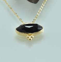 gold necklace, Gentle pendant, Natural Zircon gemstone, for her Gift, Special necklace, Designed necklace, NG16