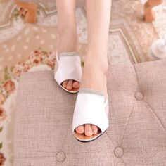 Womens Shoes Sandals Slippers Pump High Heels Transparent Sides Decor PU Leather Summer Shoes Fashion Wear T1093Z