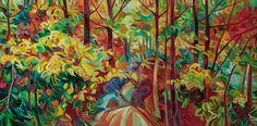 "Julia Veenstra, Overgrown Path, 48"" x 96"", acrylic on canvas"