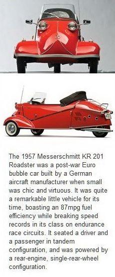 1957 Messerschmitt KR 201 Roadster.