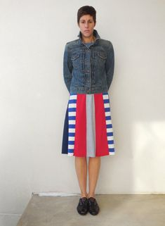 T Shirt Skirt for Her / Ruby Red Navy Blue Gray / Recycled / Upcycled / Cotton / Knee Length / For Her / Cotton / Soft / tagt team / ohzie