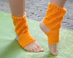 Mango Yoga Socks, Orange Dance Sock, Open Toe Ballet Sock, Exercise Slippers, Mango Yoga Slippers, Pilates Socks, Yoga Wear, Dance Wear