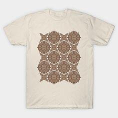 ornamental pattern no.10 in brown - Ornamental Pattern - T-Shirt   TeePublic