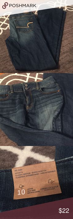 AE Artist Jeans NWT American Eagle jeans! Beautiful wash with stretch and 2 button close. American Eagle Outfitters Jeans