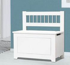White Wooden Ottoman Chest Toy Box Description A storage box. A handy bench. And our Kids Toys Box and Bench is just perfect for your little one to learn about being neat and tidy and also a spot to call their own. Crafted from durable MDF board, Toy Storage Shelves, Kids Storage Bench, Bookcase Organization, Kid Toy Storage, Box Storage, Kids Toy Boxes, Wooden Toy Boxes, Toy Bins, Bookshelves Kids