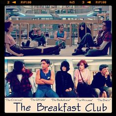 """The Breakfast Club - """"Don't You forget about me"""" And these children that you spit on, As they try to change their worlds, Are immune to your consultations, They're quite aware, of what they're going through #TheBreakfastClub #80 #JohnHughes #DontYouForgetAboutMe #thecriminal #theathlete #thebasketcase #theprincess #thebrain #movies #film #cinema #instamovies #photooftheday #goodmovie #instagood #igersitalia #love #photooftheday #amazing #picoftheday #like #bestoftheday"""