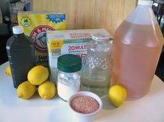 Natural cleaning materials