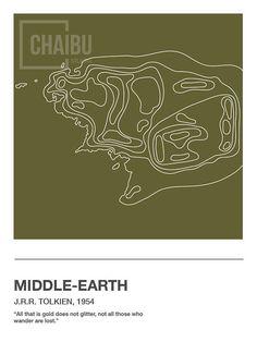 literature-inspired topographic maps  etsy.com/shop/ChaibuStudio