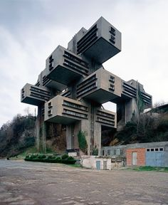 The Bank of Georgia headquarters, Tbilisi, Georgia, 1975. It was designed by architects George Chakhava and Zurab Jalaghania for the Ministry of Highway Construction of the Georgian SSR. The engineer was Temur Tkhilav. Photograph by Geert Goiris.