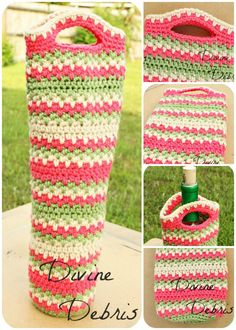 Willow Bottle Holder Pattern by Divine Debris