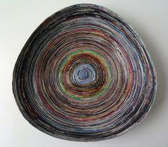 Upcycled Magazine Bowl