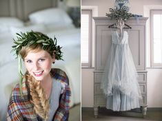 A blue Irish wedding, with a lot of Irish wedding traditions, like this blue dress - blue was worn instead of white in ancient times as a symbol of purity. #irishwedding #love #wedding