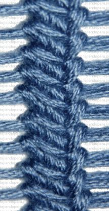 A stitch you can use on the sides of a garment. Un punto bajo tomando los dos lados del bucle