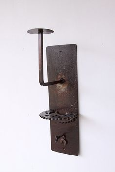 Industrial steel helmet rack/holder with sprocket by 4sawdust