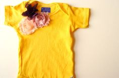 Baby Girls Clothes Hand Dyed Yellow Floral by wildjuniperbaby