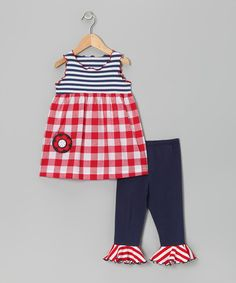 Save Now on this Red & White Gingham Swing Top & Capri Pants - Toddler & Girls by Tutu & Lilli on #zulily today!