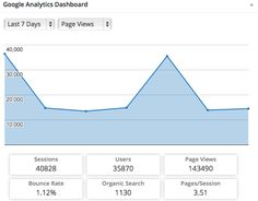 traffic 7 days Brilliant or Insane Google Analytics Dashboard, Search Page, Bounce Rate, Things That Bounce, Advertising, Education, Blog, Blogging, Onderwijs