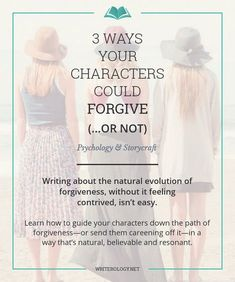 Guide your characters down a path of forgiveness—or send them careening off it—in a way that's as natural, believable and interesting to your readers as possible. The way to do that? Look first at the real-life intricacies of forgiving.   Writerology.net Book Writing Tips, Writing Process, Writing Quotes, Writing Resources, Writing Help, Writing Ideas, Persuasive Writing, Quotes Quotes, Writing Corner