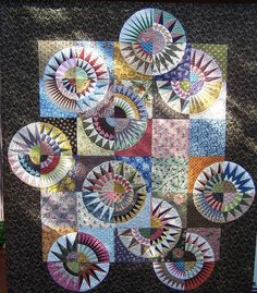 Reproduction Beauties quilt pattern by PatchworkFun on Etsy, $24.00