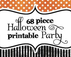 Items similar to DIY Printable Halloween Party Pack - 68 pieces on Etsy. , via Etsy.