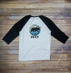 """Beer"" Baseball Tee http://www.c-jacksclothing.com/shop-1/beer-baseball-tee"
