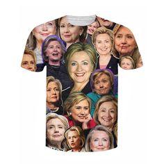 Hillary Clinton Paparazzi T-Shirt Women Men's 3d t shirt  2017 summer new mens fashion design S-5XL justin bieber clothes