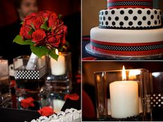 Vancouver Wedding Photographers.  Red and black wedding reception decor. Very classy!
