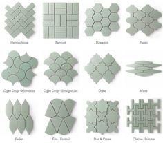 Azulejos ecológicos producidos con un 70% de material reciclado, procedente del post-consumo. Esmaltado sin plomo. Gran cantidad de patrones y colores.
