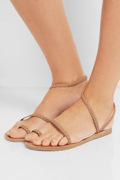 Sole measures approximately 10mm/ 0.5 inches Sand leather Slip on Imported