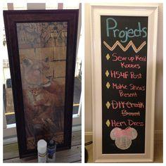 A Little Bolt of Life: DIY Chalkboard Kitchen off of garage door