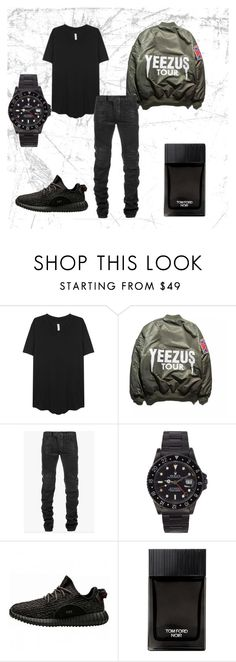 """StreetWear"" by kallysantos on Polyvore featuring Balmain, adidas, Tom Ford, mens, men, men's wear, mens wear, male, mens clothing and mens fashion"
