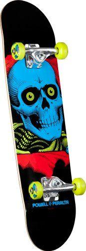 Black Friday Powell-Peralta Blacklight Ripper Complete Skateboard, Green, 7.75-Inch from Powell-Peralta