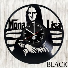 Mona Lisa Vinyl Wall Clock - VINYL CLOCKS