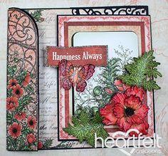 Heartfelt Creations   Fancifold Poppy Card