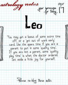 Leo Astrology Note: Hey Leo, follow us for horoscopes every day!