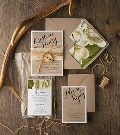 Rustic botanical invites by 4LOVEPolkaDots