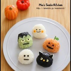 Pin by Japan Crate on Kawaii Food (^▽^) Bento Recipes, Baby Food Recipes, Halloween Food For Party, Halloween Treats, Halloween Halloween, No Cook Meals, Kids Meals, Bento Kids, Japanese Food Art