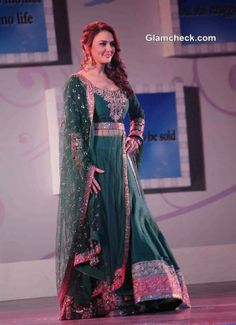 Preity Zinta Divine in Green at Save and Empower Girl Child Event