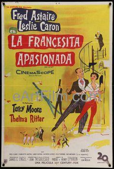 Happy Birthday #LeslieCaron https://eartfilm.com/search?q=leslie+caron #actors #dance #dancers #dancing #DaddyLongLegs #AnAmericanInParis #Paris #France #movie #movies #poster #posters #film #cinema #movieposter #movieposters    Daddy Long Legs-Fred Astaire-Leslie Caron-1955-29x43-Argentina