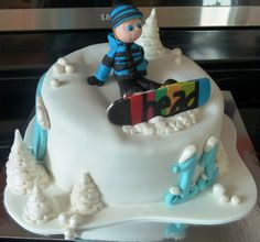 Snowboard cake - Thanks to everyone in CC for inspiration