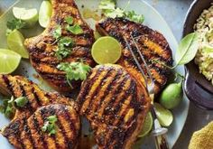 Recipes with Turmeric - Cooking Light - 1610 Turmeric Pork Chops with Green Onion Rice - Oven Pork Chops, Seared Pork Chops, Apple Pork Chops, Beef Tagine, Healthy Pork Chops, Cooking With Turmeric, Three Ingredient Recipes, Pork Chop Dinner, Turmeric Recipes